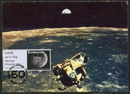 GIBRALTAR (2019). Carte Maximum Card - ATM Post & Go - 50th Anniversary APOLLO 11 XI Moon Landing 1969, Lune, Luna - Gibraltar
