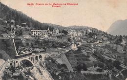Chemin De Fer Martigny Le Chatelard Finhaut - Avec Un Train - VS Wallis