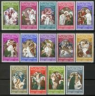 S051.-. JORDAN - 1966 - MI#: 608A-621A - MNH - CHRIST VIA DOLOROSA. CAT VAL : 14.00 € - Jordanië