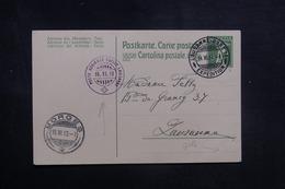 SUISSE - Entier Postal De L 'Aviation Militaire Suisse En 1913 Pour Lausanne, Oblitérations Plaisante - L 42036 - Postwaardestukken