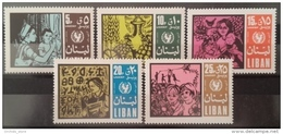 R2 - Lebanon 1969 Mi. 1078-1082 MNH - UNICEF - Nurse - Child - Lebanon