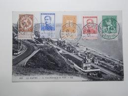 Marcophilie - Lettre Enveloppe Obliteration Sur CPA Le Havre Spécial Sur Timbres Belges - 1915 (2496) - Marcophilie (Lettres)