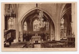 Onzain  (Loir-et-Cher)   Intérieur De L'église    (au Verso : Profession De Foi) - France