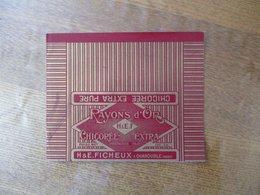 QUAROUBLE NORD H & E. FICHEUX RAYON D'OR CHICOREE EXTRA 100 GR. - Etiketten