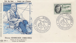 Enveloppe  FDC  1er Jour   FRANCE  OEHMICHEN    Oblitération  Grand  Format   VALENTIGNEY    1957 - FDC