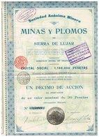 Titre Ancien - Sociedad Anónima Minera - Minas Y Plomos De Sierra De Lújar - Titulo De 1911 - Mineral