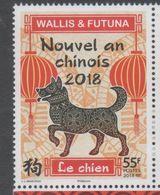 WALLIS ET FUTUNA, 2018, MNH, CHINESE NEW YEAR, YEAR OF THE DOG,1v - Chinese New Year