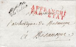 LSC En Franchise Vers 1810 Du Ministre Des Cultes Pour L'Archevêque De Besançon. TB - 1801-1848: Precursori XIX