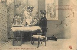 Themes Div-ref CC768- Enfants - Metiers - Blanchisserie -blanchisseuses - Affiche -boite Lefevre Utile Sur La Table - - Mestieri