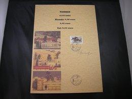 "BELG.2002 3084 FDC Filatelic Card (A4):""Unieke Mooie Kaart Met Handtekening RENE HAUSMAN (ontwerper Zegels )"" - 2001-10"