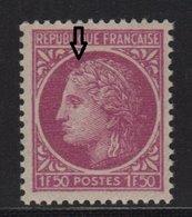 Ceres De Mazelin - N°679 - Variete Sans Epis - ** Neuf Sans Charniere - 1945-47 Cérès De Mazelin