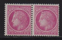 Ceres De Mazelin - N°679 - Variete Barbus - ** Neuf Sans Charniere - 1945-47 Cérès De Mazelin