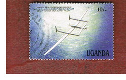 UGANDA   - SG 571  -  1987 MILESTONES OF TRANSPORTATION: VOYAGER     - USED ° - Uganda (1962-...)