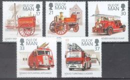 Man 1991; Fire Corps, Michel 473-477.** (MNH) - Isle Of Man