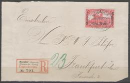 MAROC:  Bureaux Allemands N°16 Oblitéré MOGADOR Sur Devant D'enveloppe REC. ! - Deutsche Post In Marokko