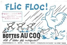 BUVARD BLOTTING PAPER CHAUSSURES  BOTTES AU COQ DE L'EAU SE MOQUENT FLIC FLOC CACHET NANTES - Chaussures