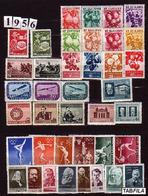 BULGARIA \ BULGARIE - 1956 - Anne Complete ** Yvert 851 - 882 + PA 70 - 72 - Années Complètes