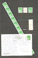 Roulette LUQUET N° 98 De 11 TP X 2,70 F. Vert. + Petit Lot Se Référant. TB. - Rollen