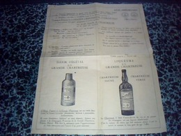 Publicitee  Liqueur Et élixir Végétal De La Grande Chartreuse Des Pères Chartreux à Voiron Année ? - Pubblicitari