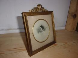 BEAU Cadre Photo Ancien à Poser Ou/et A Suspendre Laiton Ou Bronze TB ETAT MEDAILLON  Style Louis XVI - Autres Collections