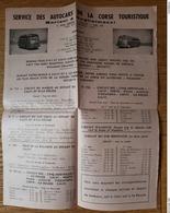 Prospectus Service Des Autocars De La Corse Touristique Mariani & Gugglielmacci - CALVI - Sports & Tourisme