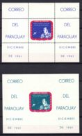 Paraguay 1961 Alan Shepard Blocks Mi#Block 12 And 13 Perforated And Imperforated, Mint Never Hinged - Paraguay