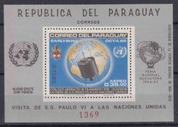 Paraguay 1965 Space Exploration Mi#Block 75 Mint Never Hinged - Paraguay
