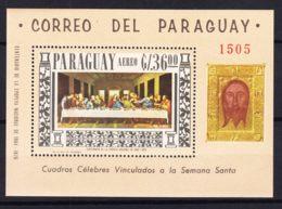 Paraguay 1967 Leonardo Da Vinci Paintings Mi#Block 97 Mint Never Hinged - Paraguay