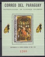 Paraguay 1966 Paintings Mi#Block 95 Mint Never Hinged - Paraguay