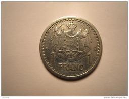 MONACO .1 FRANC Sans Date (1943). LOUIS II . ALUMINIUM - Mónaco