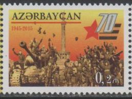 AZERBAIJAN ,2015, MNH, WWII, 70TH VICTORY ANNIVERSARY, , TANKS, 1v - WO2