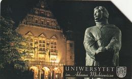POLONIA.  Poznan At Night. A. Mickiewicz's University. 25U. 1015. (104) - Polonia