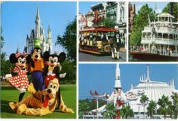 DISNEYWORLD  Multiview  Mickey Minnie Goofy And Pluto Welcome Visitors To Magic Kingdom - Disneyworld