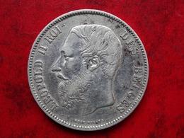 Belgique 5 Francs 1869 - Argent 24.94gr - Très Belle - Port Recommandé 5 Euros - 09. 5 Francs