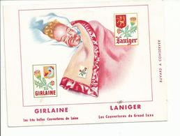 BUVARD .publicité COUVERTURE DE LAINE GIRLAINE - Produits Pharmaceutiques