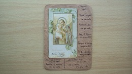 SANTINO HOLY CARD 2 GUERRA 2 WAR ITALY MASSONERIA SANCTE JOSEPH SAN GIUSEPPE MASSONE - Religione & Esoterismo