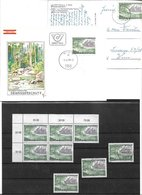 1673z: Österreich Gewässerschutz 1979, Schwarzdruck+ Belege+ Briefmarken **/o Gutes Lot 2 Scans - Umweltschutz Und Klima