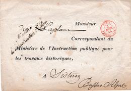 Enveloppe Vide En Franchise Du 3 Avril 1840 Du Ministère De L'Instruction Publique Pour Sisteron - 1801-1848: Précurseurs XIX