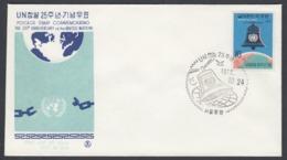 First Day Cover Spd South Corea - Corea Del Sur - Yvert 605 Year 1970 - Postmark - Korea (Zuid)