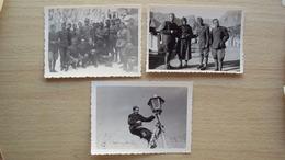ISTRIA CROAZIA DALMAZIA DA ALMISSA 3 FOTO FORMATO PICCOLO DI MILITARI REGIO ESERCITO ITALIANO OCCUPAZIONE - Photos