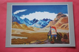"""Nicholas Roerich - """"Flag Of The Future""""   HIMALAYA - Old USSR PC 1990s - Big Size - Tibet"""