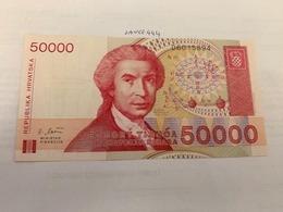 Croatia 50.000 Dinara Uncirculated 1993 Banknote - Croatia