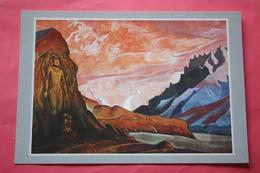 "Nicholas Roerich - ""Maitreya""   HIMALAYA - Old USSR PC 1990s - Big Size .  Future Buddha Of This World - Tibet"