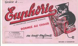 BUVARD .publicité Euphorie Couverture Chat - Animaux