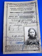 OCT 1934 PLM 10- CARTE D'IDENTITÉ DE RÉDUCTION DONNANT DROIT  50%  Vintage Titre De Transport Famille Nombreuse - Abonnements Hebdomadaires & Mensuels