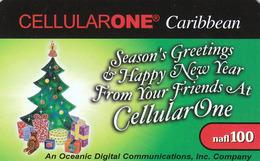 Bonaire, ( Dutch Antilles) CellularOne Caribbean, Nafl100  0574/1000, Season's Greetings, Christmas - Antille (Olandesi)