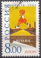 Rossija 2003 Michel 1078 O Cote (2008) 0.80 Euro Europa CEPT L'Art De L'affiche Cachet Rond - 1992-.... Fédération