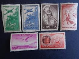1941 - MONACO P.A. Y&T N° 2 à 7 ** - SYMBOLES - Luftfahrt