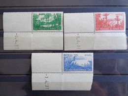 1937 - MONACO COINS DATES Y&T N° 135 à 139 ** - JARDINS DE LA PRINCIPAUTE ET EFFIGIE - Monaco
