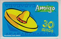Antilles Françaises Recharge GMS Amigo 30 Euros 2 Scans N° 12 - Antillen (Frans)
